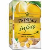 Twinings Infuso Lemon Ginger Herbata 20szt 30g
