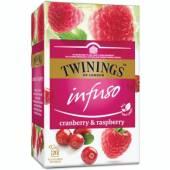 Twinings Infuso Cranberry Raspberry Herb 20szt 30g