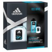 Adidas Ice Dive Zestaw Gel 250ml Woda Toalet 50ml
