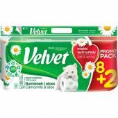Velvet Rumianek Aloes 3Lag Papier Toaletowy 10szt