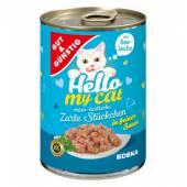 G&G Hello My Cat Zarte Stuckchen Seelachs 415g
