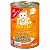 G&G Hello My Cat Zarte Stuckchen Huhn 415g